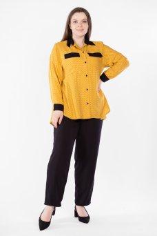 Блузка BL50504PEA51 (горчичный/черный горох)