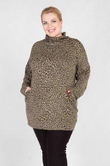 Джемпер DG44808HEA30 светло коричневый-леопард