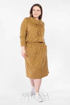 Платье PP27608MEL50 горчица