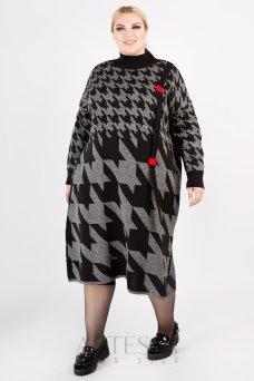 Платье PP61128GEO23 серый