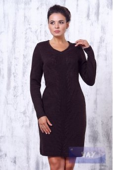 Платье 2183 т.коричневый