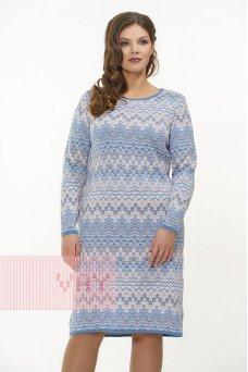 Платье 2315 т.синий/яр.персик/молоко/небесный