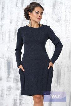 Платье 3236 темно-синий