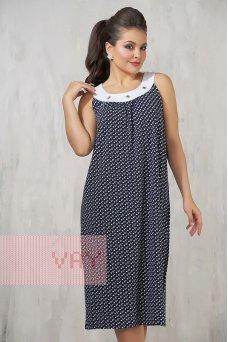Платье 3302 якоря т. синий/белый
