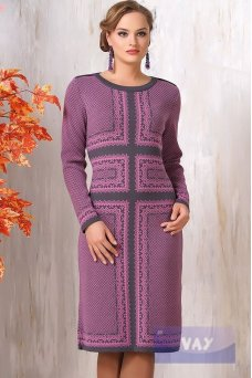 Платье 9038 клевер-т. серый