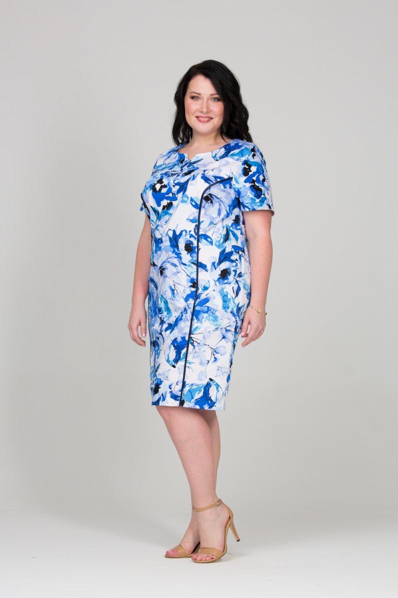 071dcc367e7 Платье Аквамарин (сине-белый) фирмы Интикома купить по цене 4200 руб ...