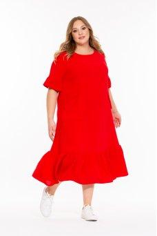 Платье Брусника (красный)
