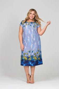 Платье Лазурь (голубой)