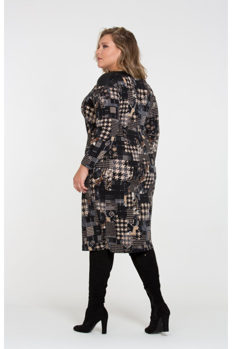 Платье Теона (коричневый)