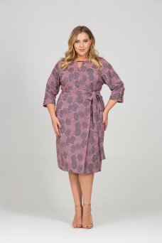 Платье Жаккард Розы (розовый)