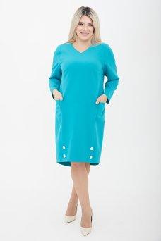 Платье 1098 бирюза