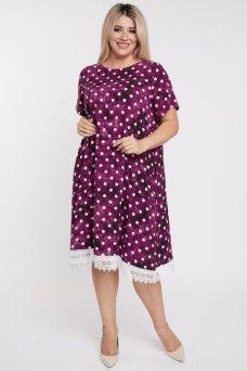 Платье 1104 темно розовый