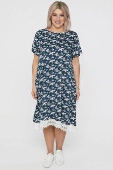Платье 1104 темно синий
