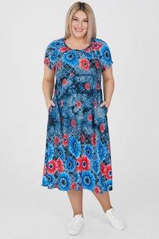 Платье 1202 темно синий