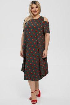 Платье 1216 зеленый