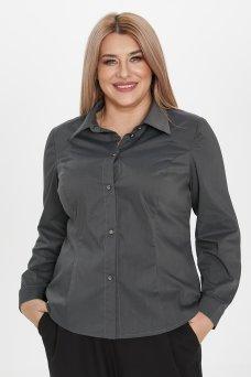 Рубашка 1223 темно-серый