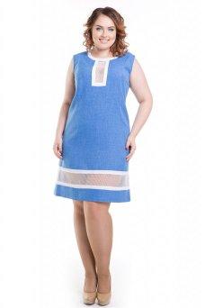 Платье 423 (голубой)