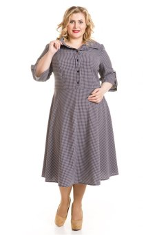 Платье 497 (клетка черно-белый)