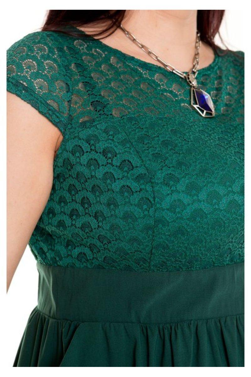 Чем можно украсить зеленое платье фото