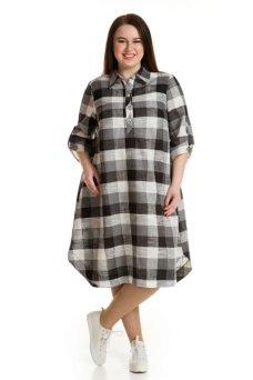 Платье 604 черно белый