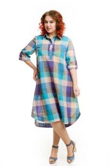 Платье 604 голубой