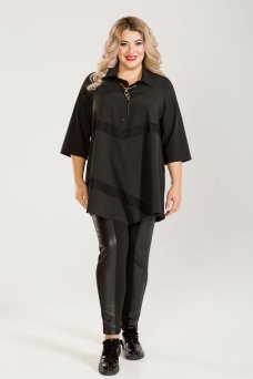 Блузка 625 (черный)