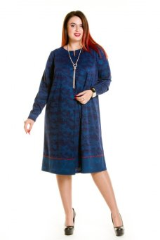 Платье 629 синий