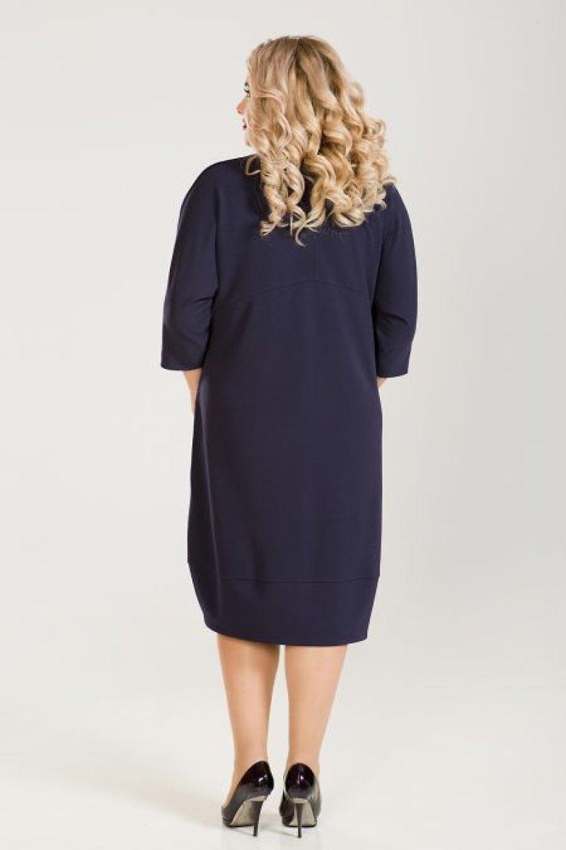 Платье 673 (темно синий)