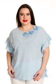 Блузка 705 (голубой)