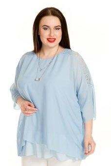 Блузка 710 (голубой)