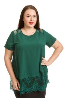 Блузка 735 (темно зеленый)
