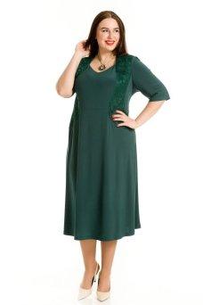 Платье 760 (темно зеленый)