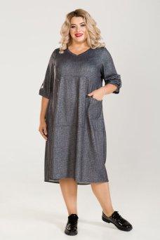 Платье 769 (темно серый)