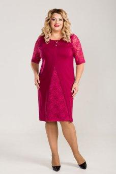 Платье 789 (темно розовый)