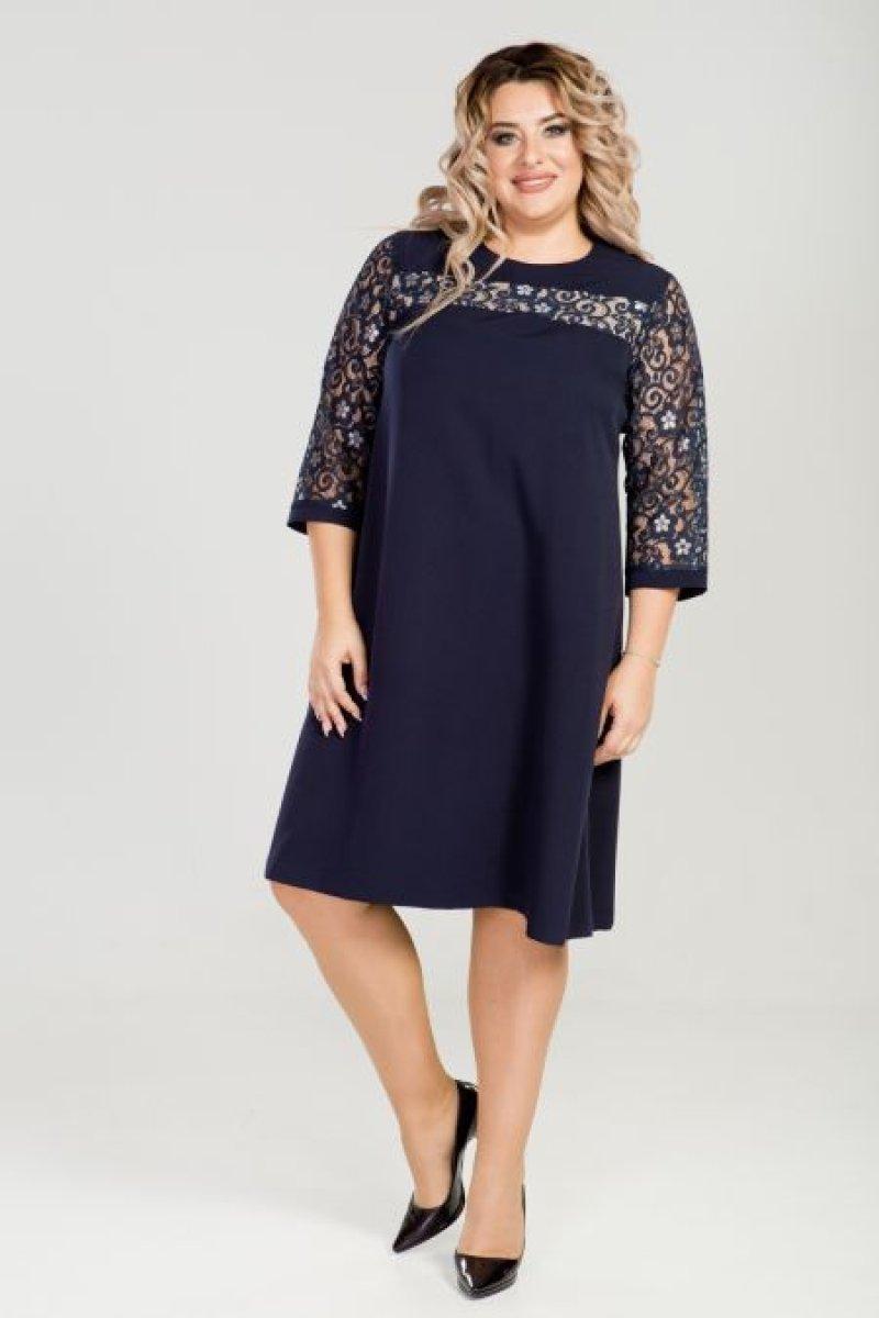 Платье 801 (темно-синий)
