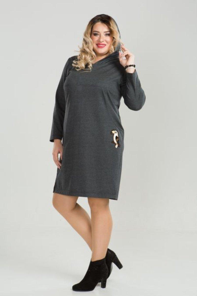 Платье 811 (темно серый)