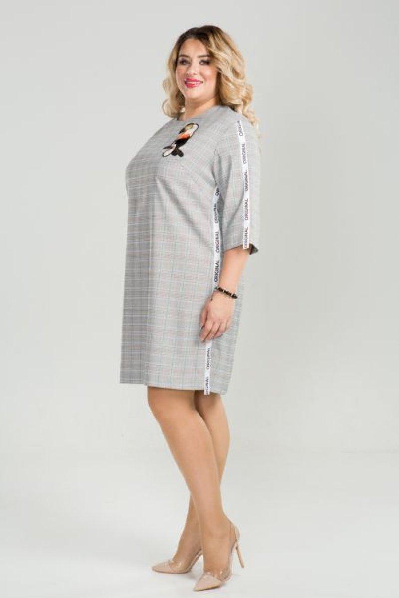 Платье 814 (серый)