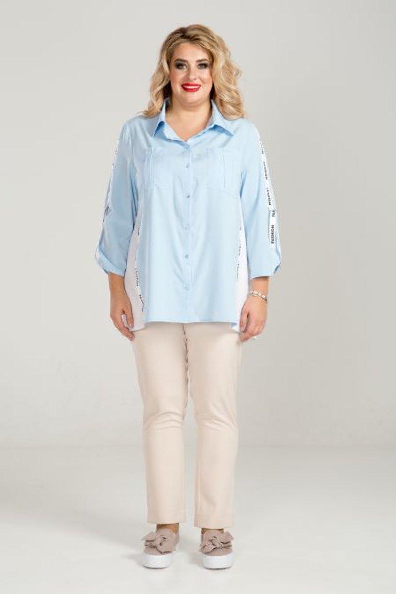 Рубашка 826 (голубой)