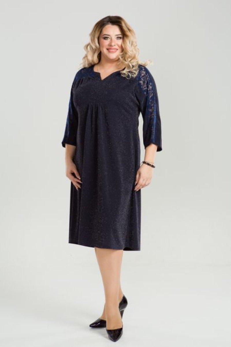 Платье 828 (темно синий)