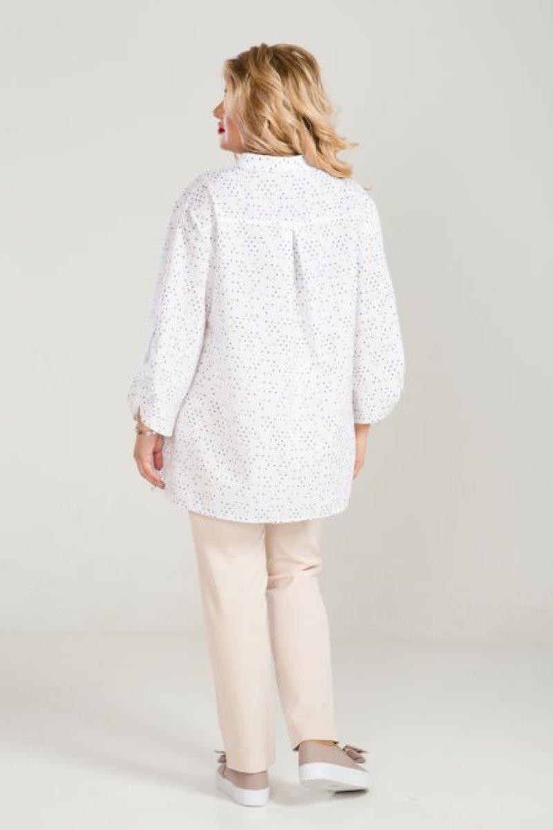 Рубашка 852 (сине-белый)