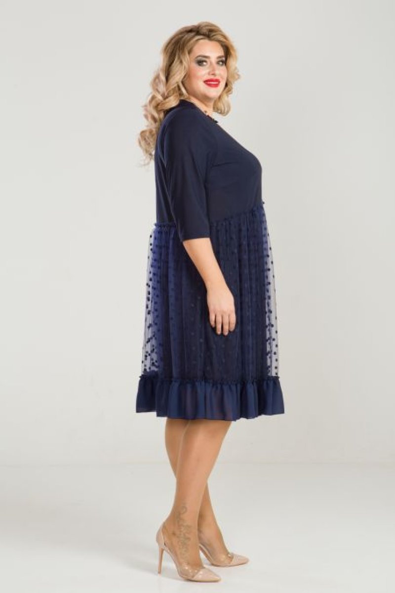 Платье 860 (темно синий)