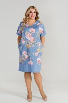 Платье 875 (голубой)