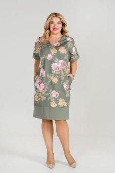 Платье 875 (зеленый)