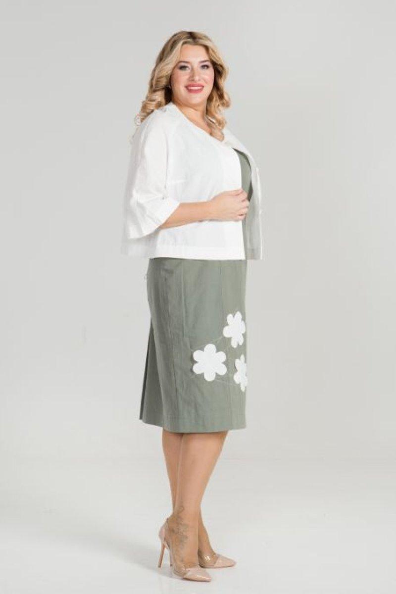 Костюм 877 (зеленый/белый)