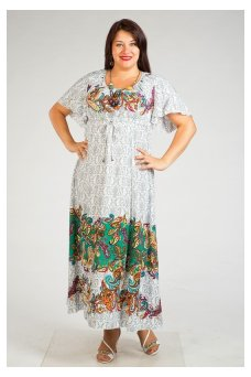 Платье 240 (цветочный купон-зеленый)