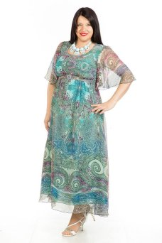 Платье 258 (бирюзовый)