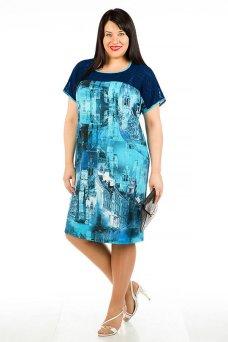 Платье 430 (синий)