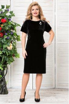 Платье Бархат (черный)
