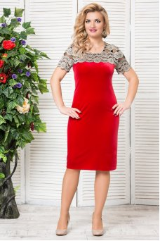Платье Катрин (красный)