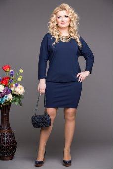 Платье Мадонна (синий)